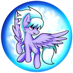 Size: 2539x2539 | Tagged: artist:flamevulture17, cloudchaser, commission, female, open mouth, orb, pegasus, pony, safe, smiling, solo, spread wings