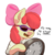 Size: 750x750 | Tagged: safe, artist:zapplebow, apple bloom, earth pony, pony, bipedal, clock, clothes, dank memes, ear fluff, female, filly, filthy frank, hoof hold, it's time to stop, meme, open mouth, parody, reaction image, simple background, solo, sunglasses, transparent background