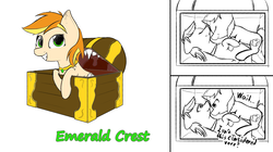 Size: 11405x6400 | Tagged: safe, artist:ampderg, oc, oc only, oc:emerald crest, oc:white bread, hybrid, mimic, mimic pony, monster pony, original species, pony, unicorn, :t, absurd resolution, cuddling, cute, doodle, eyes closed, female, fetish, floppy ears, frown, grin, holding hooves, jewelry, lidded eyes, looking at you, mare, necklace, scrunchy face, sharp teeth, simple background, smiling, snuggling, soft vore, squee, teeth, text, thinking, uvula, vore, wavy mouth, white background, wide eyes