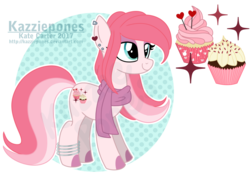 Size: 1024x729 | Tagged: artist:kazziepones, clothes, earth pony, female, mare, oc, oc:frosted sugar, oc only, pony, reference sheet, safe, scarf, simple background, solo, transparent background