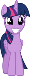 Size: 909x2271   Tagged: safe, artist:cloudyskie, twilight sparkle, alicorn, pony, to where and back again, .ai available, female, folded wings, looking at you, mare, simple background, smiling, solo, transparent background, twilight sparkle (alicorn), vector