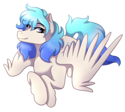 Size: 2009x1800   Tagged: safe, artist:kikirdcz, oc, oc only, oc:clarity, pegasus, pony, art trade, female, mare, simple background, smiling, solo, transparent background