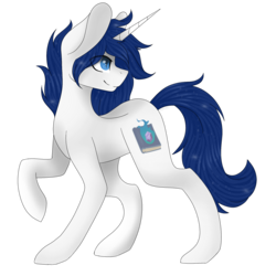 Size: 2048x2048 | Tagged: safe, artist:cinnamontee, oc, oc only, pony, unicorn, high res, male, raised hoof, simple background, solo, stallion, transparent background
