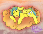 Size: 784x610 | Tagged: artist:deltafairy, male, oc, oc only, oc:unknown, pegasus, pony, safe, sleeping, solo, stallion
