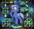 Size: 3500x3000 | Tagged: artist:taterbiscit, bedhead, chest fluff, dimensional, earth pony, extradimensional, female, fractal background, math, oc, oc only, oc:quasar, paintdotnet, physics, pony, quasar, safe, science, solo, spacetime, tesseract, thinking