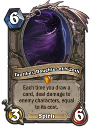 Size: 400x569 | Tagged: safe, artist:rain-gear, edit, tantabus, card, crossover, hearthstone, legendary, solo, spirit, trading card, trading card edit, trading card game, warcraft
