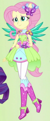Size: 330x790 | Tagged: safe, fluttershy, equestria girls, boots, crystal guardian, crystal wings, cute, female, high heel boots, ponied up, raised leg, shyabetes, solo, sparkles, super ponied up, wings