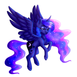 Size: 3500x3500 | Tagged: alicorn, artist:micky-ann, color porn, flying, lidded eyes, pony, princess luna, safe, simple background, solo, transparent background, unshorn fetlocks
