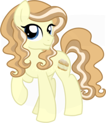 Size: 600x697 | Tagged: artist:tambelon, earth pony, female, mare, oc, oc:cream puff, oc only, pony, safe, solo