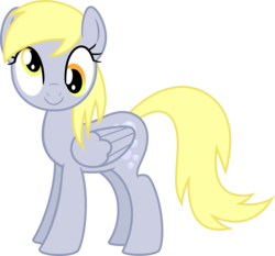 Size: 5729x5350 | Tagged: safe, artist:lman225, derpy hooves, pony, absurd resolution, female, looking at you, simple background, smiling, solo, transparent background, vector