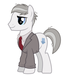 Size: 5863x6639 | Tagged: absurd res, artist:pink1ejack, background pony, clothes, earth pony, jacket, male, messy mane, necktie, neighl page, planes trains and automobiles, ponified, pony, safe, simple background, smiling, solo, stallion, transparent background, vector