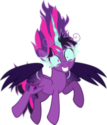 Size: 4805x5598   Tagged: safe, artist:osipush, sci-twi, twilight sparkle, alicorn, pony, equestria girls, absurd resolution, corrupted, equestria girls ponified, evil grin, female, grin, midnight snapple, midnight sparkle, ponified, simple background, slasher smile, smiling, solo, transparent background, twilight snapple, twilight sparkle (alicorn)