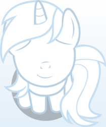 Size: 1061x1261   Tagged: safe, artist:badumsquish, derpibooru exclusive, oc, oc only, oc:post anonymously, pony, unicorn, derpibooru, badumsquish's kitties, bashful, derpibooru ponified, female, looking at you, looking up, meta, no eyes, part of a set, ponified, sitting, smiling, solo
