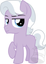Size: 510x700 | Tagged: artist:tambelon, colt, earth pony, magical lesbian spawn, male, oc, oc only, oc:top dollar, offspring, parent:diamond tiara, parent:silver spoon, parents:silvertiara, pony, raised hoof, safe, simple background, solo, transparent background, watermark