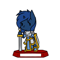 Size: 200x200 | Tagged: safe, artist:rice, oc, oc only, oc:starlight blossom, pony, unicorn, armor, bipedal, fantasy class, female, filly, knight, rpg, shield, simple background, solo, sword, transparent background, warrior, weapon