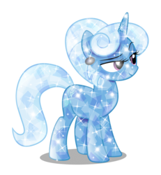 Size: 3079x3332   Tagged: safe, artist:infinitewarlock, trixie, crystal pony, pony, crystallized, female, simple background, solo, transparent background, vector