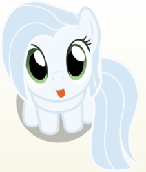 Size: 1198x1415 | Tagged: safe, artist:badumsquish, derpibooru exclusive, oc, oc only, oc:albany, earth pony, pony, derpibooru, :p, badumsquish's kitties, ban pony, derpibooru ponified, female, looking at you, looking up, meta, part of a set, ponified, sitting, smiling, solo, tongue out