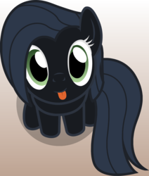 Size: 1198x1415 | Tagged: safe, artist:badumsquish, derpibooru exclusive, oc, oc only, oc:albany, earth pony, pony, derpibooru, :p, badumsquish's kitties, ban pony, derpibooru ponified, female, looking at you, looking up, meta, part of a set, ponified, recolor, sitting, smiling, solo, tongue out