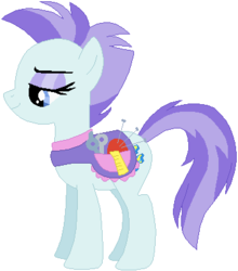 Size: 355x403 | Tagged: safe, artist:ra1nb0wk1tty, roxie, roxie rave, pony, simple background, solo, white background