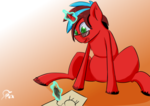 Size: 1754x1240 | Tagged: artist:omegapex, drawing, glasses, green eyes, oc, oc only, pony, safe, solo, unicorn