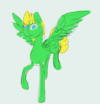Size: 847x881 | Tagged: artist:omegapex, blue eyes, colored sketch, oc, oc only, pegasus, pony, safe, sketch, solo