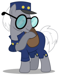 Size: 2376x3000   Tagged: safe, artist:brony-works, mr. zippy, pony, high res, mailpony, saddle bag, simple background, solo, transparent background, vector