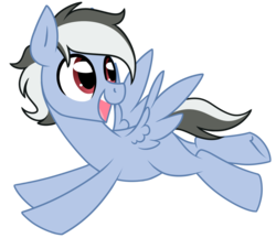 Size: 1024x885 | Tagged: safe, artist:kellythedrawinguni, oc, oc only, oc:sharp focus, pegasus, pony, flying, male, simple background, skunk stripe, solo, stallion, transparent background