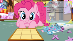 Size: 1198x676 | Tagged: artist:drud14, flash game, game, pinkie pie, safe, solo, tic tac toe