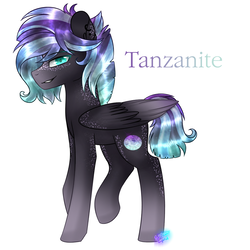 Size: 1024x1024 | Tagged: artist:northlights8, male, oc, oc only, oc:tanzanite, offspring, parent:rarity, parents:rarilane, parent:thunderlane, pegasus, pony, safe, solo, stallion