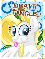 Size: 1050x1400 | Tagged: artist:iheartjapan789, female, mare, oc, oc:cobalt tangle, oc only, pegasus, pony, puffy cheeks, safe, solo, tongue out
