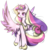 Size: 1592x1643 | Tagged: safe, artist:clefficia, artist:elizabet14563, princess cadance, alicorn, pony, collaboration, female, heart eyes, simple background, solo, spread wings, transparent background, wingding eyes, wings