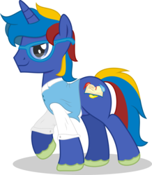Size: 2311x2647 | Tagged: safe, artist:adog0718, oc, oc only, oc:astral mythos, pony, unicorn, cutie mark, glasses, redesign, simple background, transparent background, vector