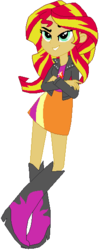 Size: 223x565 | Tagged: safe, artist:ra1nb0wk1tty, sunset shimmer, equestria girls, equestria girls (movie), boots, clothes, crossed arms, female, high heel boots, jacket, leather jacket, raised leg, simple background, skirt, solo, white background