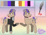Size: 1440x1080 | Tagged: artist:deltafairy, commission, earth pony, femboy, male, oc, oc only, oc:sasha, pony, reference sheet, safe, solo, stallion, trap