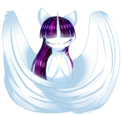 Size: 2623x2436 | Tagged: safe, artist:php146, oc, oc only, oc:twily star, alicorn, pony, eyes closed, female, high res, jewelry, mare, necklace, simple background, solo, transparent background