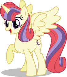 Size: 2786x3191 | Tagged: safe, artist:orin331, moondancer, alicorn, pony, alicornified, looking at you, moondancercorn, open mouth, race swap, raised hoof, simple background, smiling, solo, spread wings, transparent background