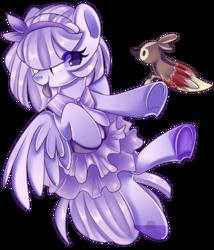 Size: 1024x1194   Tagged: safe, artist:nuryndork, oc, oc only, oc:windyana, bird, pony, clothes, dress, solo