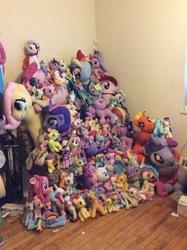Size: 2592x1936 | Tagged: safe, artist:ponylover88, applejack, fluttershy, pinkie pie, rainbow dash, rarity, twilight sparkle, alicorn, pony, collection, irl, mane six, photo, plush madness, plushie, twilight sparkle (alicorn)