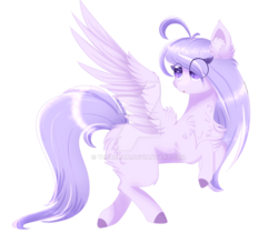Size: 1024x860 | Tagged: safe, artist:little-sketches, oc, oc only, oc:lotus flower, pegasus, pony, eye clipping through hair, female, flying, mare, simple background, solo, transparent background, watermark