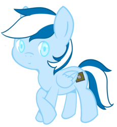 Size: 1250x1350 | Tagged: safe, artist:blissprism, oc, oc only, oc:silicon chip, pegasus, pony, chibi, male, simple background, solo, transparent background