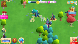 Size: 1920x1080 | Tagged: safe, derpy hooves, ditzy doo, crystal pony, pony, crystal empire, crystallized, gameloft, vip