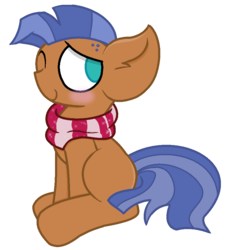 Size: 891x934 | Tagged: safe, artist:thefanficfanpony, spearhead, earth pony, pony, a flurry of emotions, blank flank, impossibly large ears, male, simple background, sitting, solo, stallion, that was fast, transparent background
