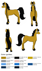 Size: 905x1542 | Tagged: artist:darkhestur, bead, braid, cymk, front view, hexadecimal, horseshoes, looking at you, norse pony, oc, oc:dark, oc only, rear view, reference sheet, safe, side view, simple background, white background