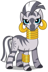 Size: 2008x3000 | Tagged: safe, artist:brony-works, zecora, zebra, female, high res, looking at you, simple background, smiling, solo, transparent background, vector