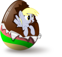 Size: 3248x3000 | Tagged: safe, artist:up1ter, derpy hooves, pegasus, pony, chocolate, chocolate egg, cute, easter, easter egg, female, food, mare, simple background, solo, transparent background, vector