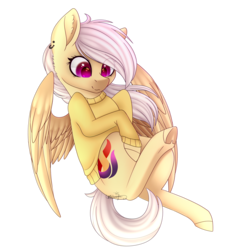 Size: 2190x2212 | Tagged: safe, artist:ohhoneybee, oc, oc only, oc:ignite, pegasus, pony, clothes, colored pupils, female, high res, mare, simple background, solo, sweater, transparent background