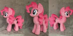 Size: 4512x2256   Tagged: safe, artist:whitedove-creations, pinkie pie, earth pony, pony, absurd resolution, female, irl, mare, photo, plushie, solo