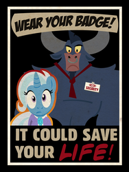 Size: 901x1200 | Tagged: artist:pixelkitties, fallout, fallout: new vegas, female, iron will, mare, parody, pony, poster, safe, trixie, unicorn