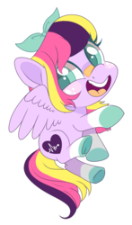 Size: 604x1027 | Tagged: safe, artist:peachesandcreamated, oc, oc only, oc:lucy softheart, pegasus, pony, chibi, colored hooves, electrocardiogram, female, freckles, frog (hoof), heart, mare, open mouth, simple background, smiling, solo, transparent background, underhoof