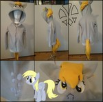 Size: 2000x1975   Tagged: safe, artist:kleinespika, derpy hooves, pegasus, pony, clothes, commission, cutie, cutie mark, female, hoodie, mare, mark, merchandise, selfmade